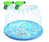 "68"" Sprinkler Splash Pad for Kids Outdoor Children Water Play Mat Sprinkler Pool"