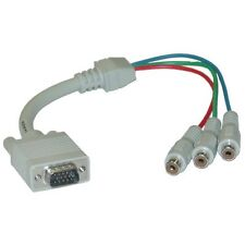 1 ft VGA to Component Video Adapter HD15 Male to 3 x RCA Female RGB 30H1-50200