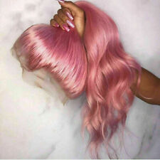 Luxury Lace Front Brazilian Remy Baby Pink Glueless Full Lace Human Hair Wig
