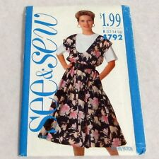 Butterick Vintage 1990s Pattern 4792 See Sew Misses Jumper Top 12 14 16 uncut