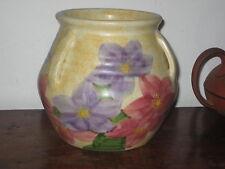 EDWARD RADFORD VASE TRIPLE LUGGED flowers COLOURFUL