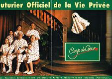PUBLICITE ADVERTISING  1993 COUP DE COEUR pyjamas maillots de bain (2 pages)