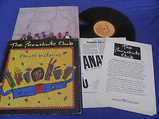 The Parachute Club - Small Victories - RARE Israel Israeli LP + Press Kit LISTEN