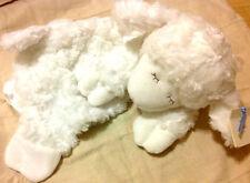 Baby GUND! Winky Huggybuddy White Lamb Satin Snuggle Soft Baby Security Blanket!