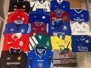 18 Vintage Retro Kids Football Shirt Collection - Everton, Liverpool Man Utd