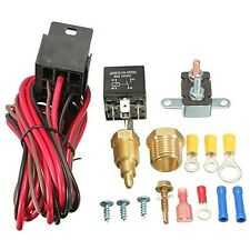 175-185 Degree Engine Cooling Fan 4 pins Thermostat Temp Relay Switch Sensor Kit