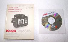 Kodak Easy Share Digital Camera Z7590 User Guide Manual Book Disc Disk Software
