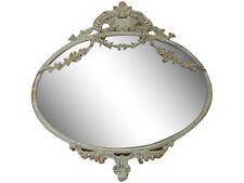Chic Antique Spiegel Antik Beige Metall Ornamente Shabby Vintage Brocante Deko