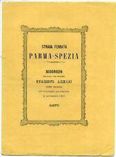 Strada ferrata Parma - Spezia, discorso pronunciato dall'ingegnere Evaristo