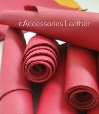 LARGE Size RED  & DARK RED high quality 100% GENUINE LEATHER * squares