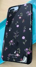 New Design Kate Spade Black Jewel Bling floral Case iPhone 6 6s 7 8 Plus 5.5""
