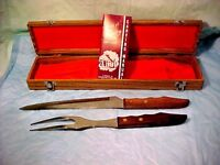 Vintage KNIFE Cutlery Stainless Steel Carving Set Japan TOWN & COUNTRY CUTLERY