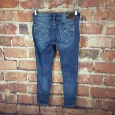 Silver Jeans Suki Capri Womens Size 29 Distressed 26 Inseam