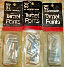 Lot Of 3 Packs -Vintage Outers Fleetwood 45 Grain Steel Field Point Glue On Tips