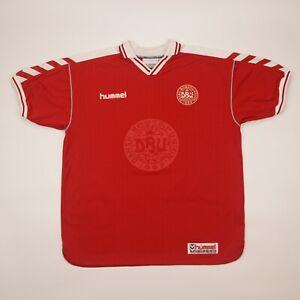 Denmark #10 1998 1999 2000 Home Football Soccer Shirt Jersey Hummel Camiseta Kit