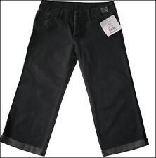 "BNWT WOMEN'S DESIGNER OAKLEY 3/4 DENIM JEANS PANTS NEW W28"" UK10 BLACK NEW"