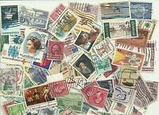 200 assorted used US stamps collection off paper definitives & commemoratives