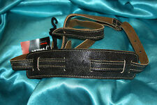 Fender Vintage Brown Distressed Leather Strap with Shoulder Pad, MPN 0990626050
