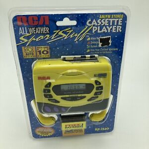 RCA All Weather Sports Stuff AM/FM Cassette Player Personal Headphones RP-1540