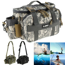 Fishing Tackle Bag Pack Shoulder Waist Waterproof Box Reel Lure Gears Storage
