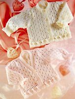 (773) Knitting Pattern for Girls Lace Cardigans with Pretty Edging, 16-26''
