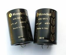 4 pcs Kendeil 470µF 400V 105° Low ESR, audio grade electrolytic capacitors
