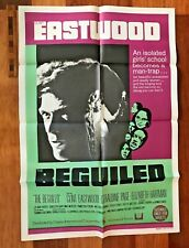 VINTAGE 1971 ORIGINAL ONE-SHEET MOVIE POSTER BEGUILED CLINT EASTWOOD AUSSIE EXC!