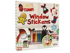 Finestra di Natale Decorazione stickems KIT pelabile Glass Art Paint Set & funzione di struttura
