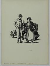 "Original Jim Hays Illustration from Readers Digest ""Grapes of Wrath Great Reads"""