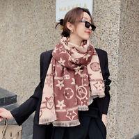 Winter Long Scarf Imitate Cashmere Fashion Flower Print Kerchief Stole 190*65cm