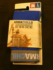 DULUTH TRADING ARMACHILLO BOXER BRIEF IN BALTIC BLUE SIZE LARGE  NEW