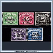 1950 Occupazioni Colonie B.A. Tripolitania Segnatasse 5 val. n. 6/10 BA Nuovi **