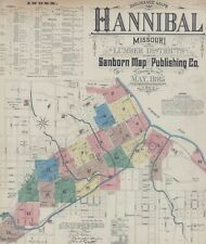Hannibal, Missouri~Sanborn Map©~sheets~in color 1885 with 23 maps on Cd