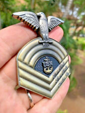Navy Chief Antique Old School Chevron CPO Challenge Coin