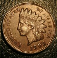 OLD US COINS 1903 HIGHGRADE FULL LIBERTY INDIAN HEAD CENT