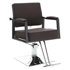 Hair Styling Chair Salon Barber Chair Haircut Beauty Equipment Hydraulic Brown