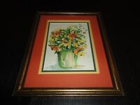 Original Anne Armstrong Art Watercolor Painting 1992 Flower Vase Bouquet Signed