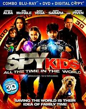 NEW 3D + BLU-RAY + DVD + DIGITAL - SPY KIDS , ALL THE TIME IN THE WORLD -