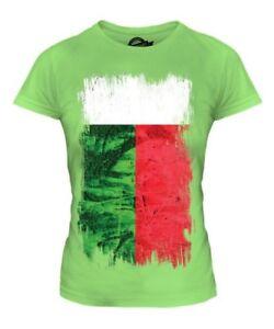 Madagaskar Grunge Flag Damen T-Shirt Top Madagasikara Fußball Malagasy Hemd