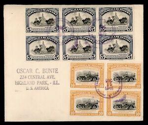 DR WHO 1948 PANAMA BLOCK TO USA  g02192