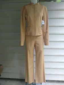 CARLISLE VINTAGE COTTON SILK PANT JACKET SUIT size 6 NWT $710