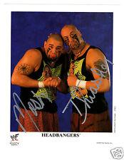 WWE HEADBANGERS P-467 SIGNED OFFICIAL 8X10 PROMO W/COA