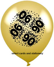 8 x happy 90th birthday helium or airfill age 90 party balloons male / female