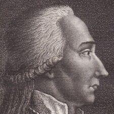 Portrait XVIIIe Thomas de Mahy de Favras Ordre de Saint Louis Révolution 1796