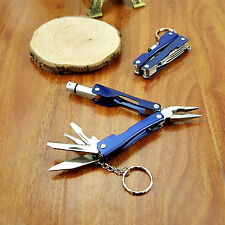Multi Function Camping Hiking Pocket Plier Knife Saw Screwdriver With LED Light