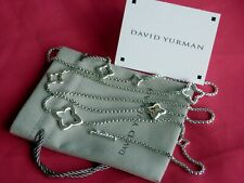 "David Yurman Sterling Silver 36"" Quatrefoil 2.7mm Chain Necklace $750+ Beauty!"