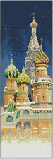 """New Stamped Cross Stitch Kit """"Russian Palace"""" 15.5""""X5.5"""" architectural design"""
