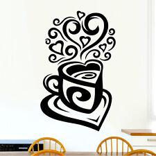 Love Té Café De Cocina Pared Calcomanía De Vinilo Pegatina De Té Art Deco Restaurante Pub