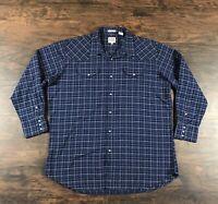 Ely Cattleman Men/'s 8.5 oz Brawny Flannel Long Sleeve Western Shirt 15201027