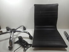 Winport Furniture WF-5052L Mid-Back Leather Armless Office/Home Desk Chair Black